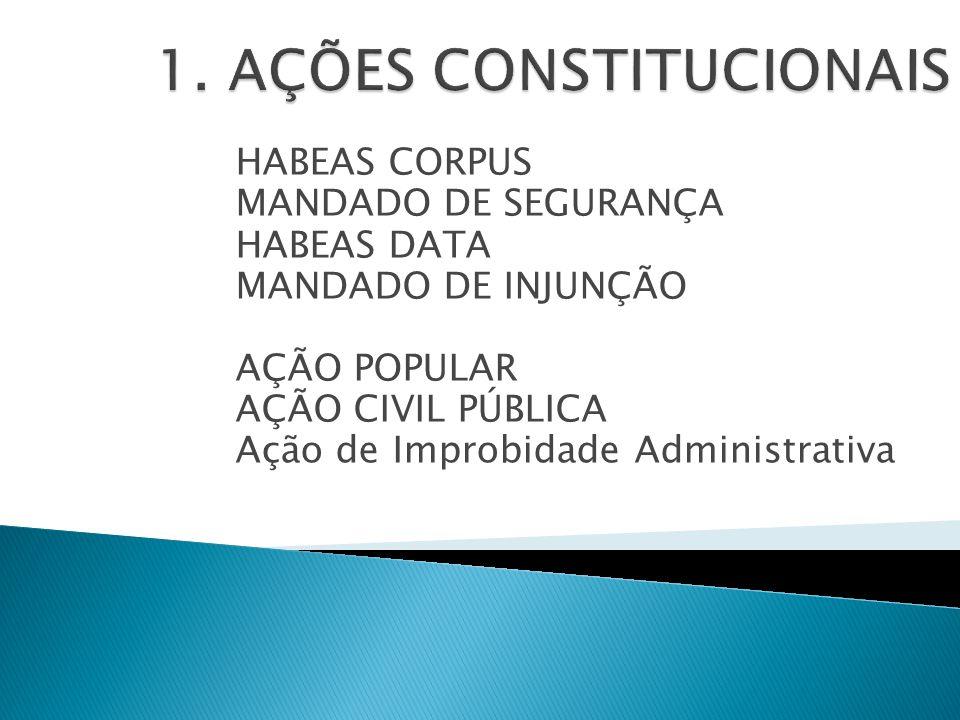 1. AÇÕES CONSTITUCIONAIS