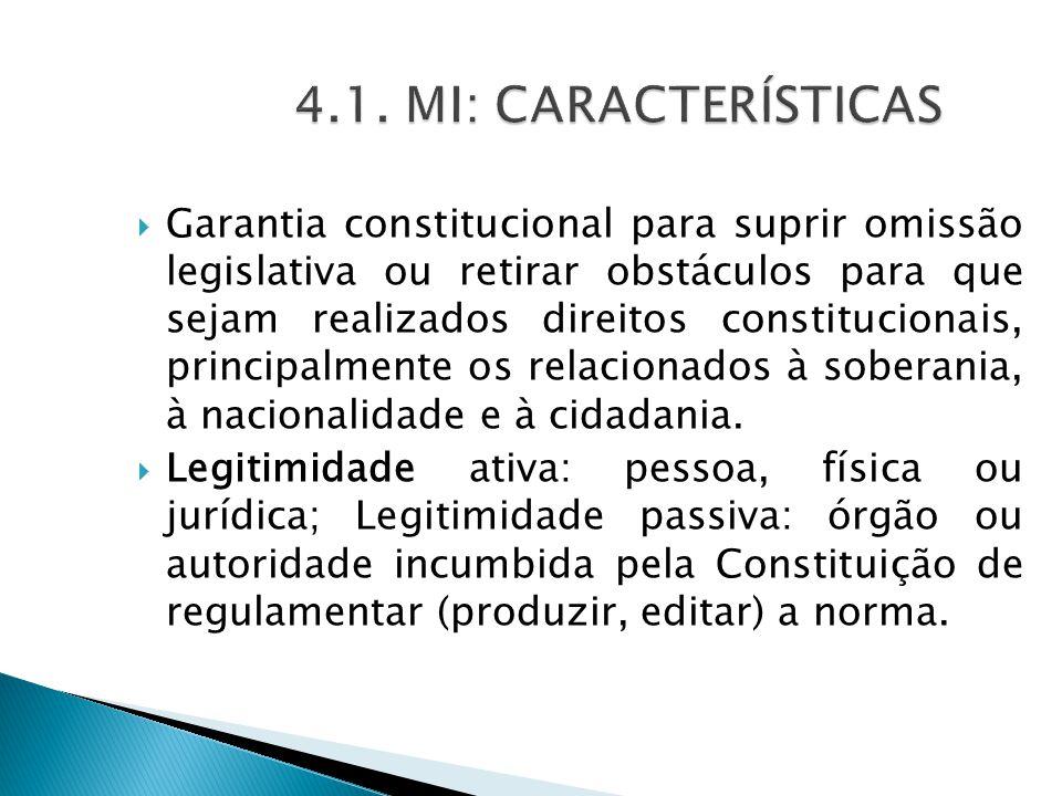4.1. MI: CARACTERÍSTICAS