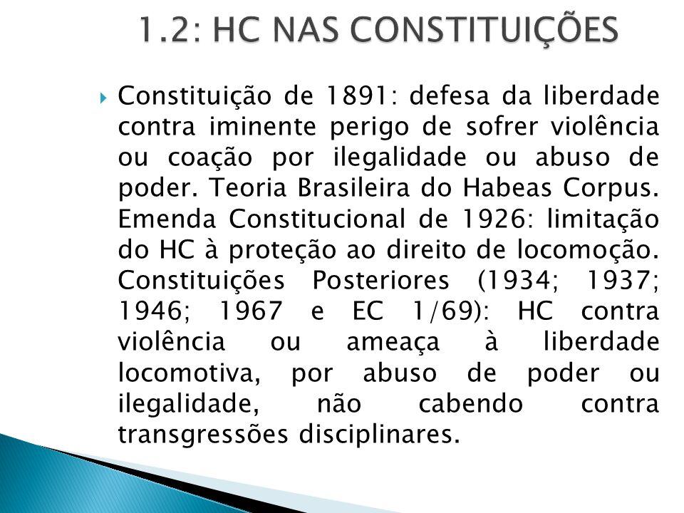 1.2: HC NAS CONSTITUIÇÕES