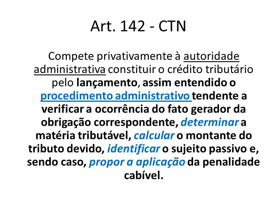 Art. 142 - CTN