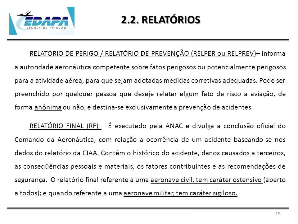 2.2. RELATÓRIOS