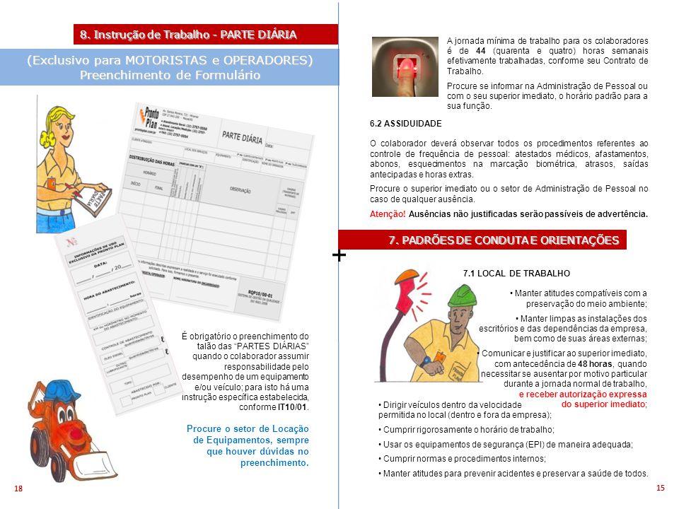 + (Exclusivo para MOTORISTAS e OPERADORES) Preenchimento de Formulário