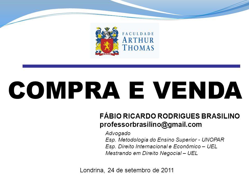 COMPRA E VENDA FÁBIO RICARDO RODRIGUES BRASILINO