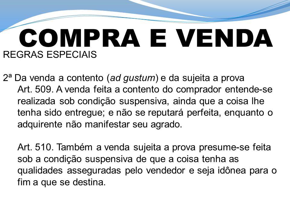 COMPRA E VENDA REGRAS ESPECIAIS