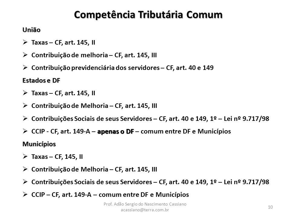 Competência Tributária Comum