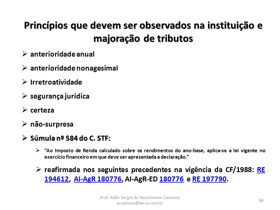 Prof. Adão Sergio do Nascimento Cassiano acassiano@terra.com.br