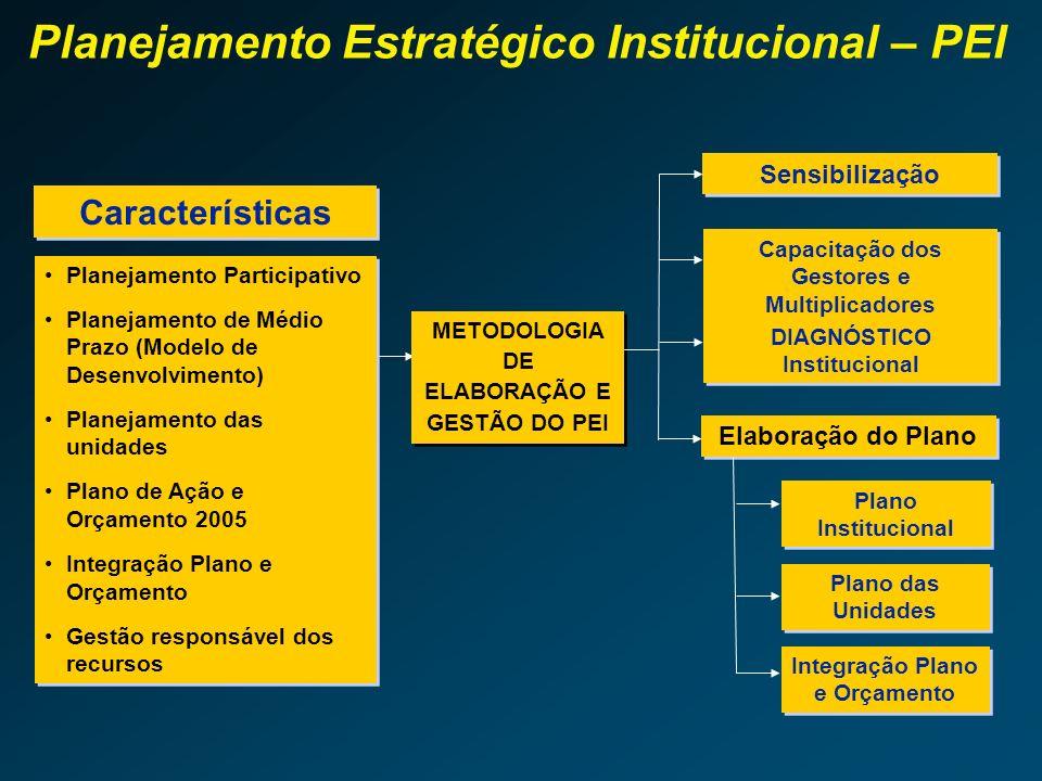 Planejamento Estratégico Institucional – PEI