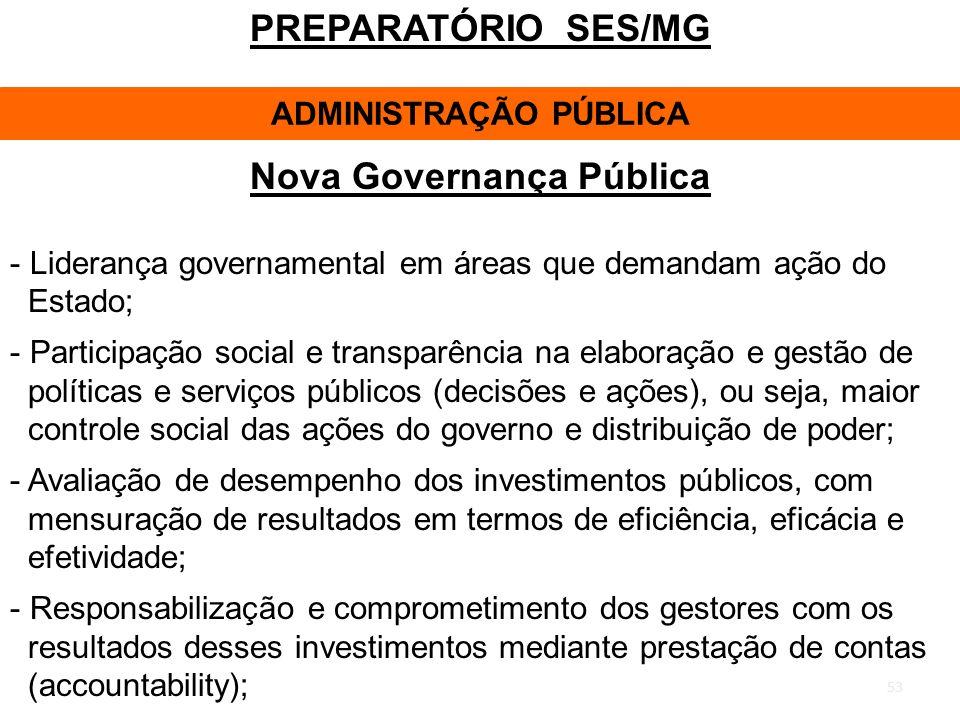 ADMINISTRAÇÃO PÚBLICA Nova Governança Pública