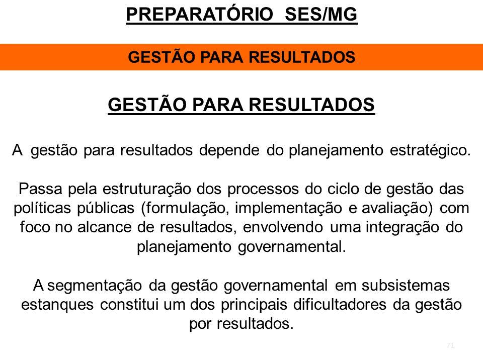 GESTÃO PARA RESULTADOS GESTÃO PARA RESULTADOS
