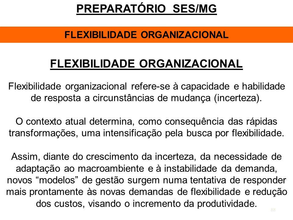 FLEXIBILIDADE ORGANIZACIONAL FLEXIBILIDADE ORGANIZACIONAL