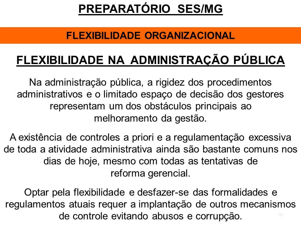 FLEXIBILIDADE ORGANIZACIONAL FLEXIBILIDADE NA ADMINISTRAÇÃO PÚBLICA