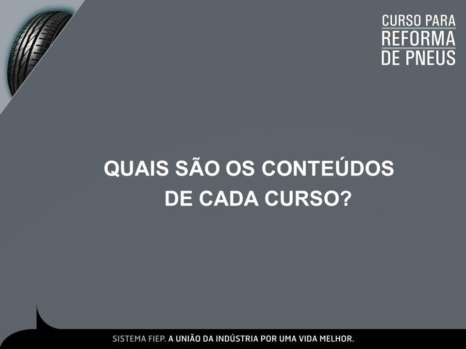 QUAIS SÃO OS CONTEÚDOS DE CADA CURSO