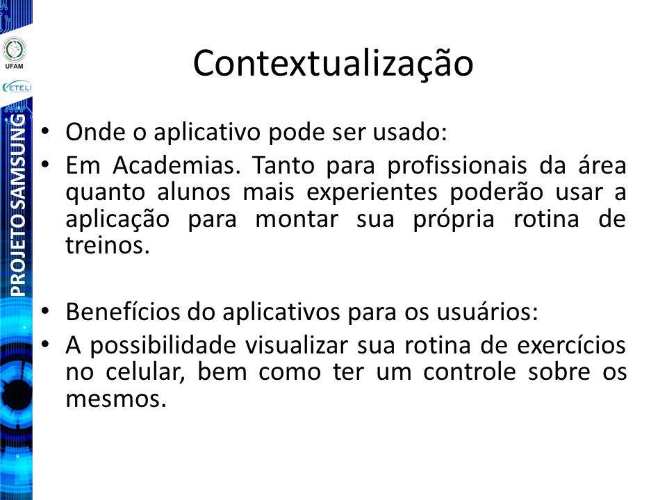 Contextualização Onde o aplicativo pode ser usado: