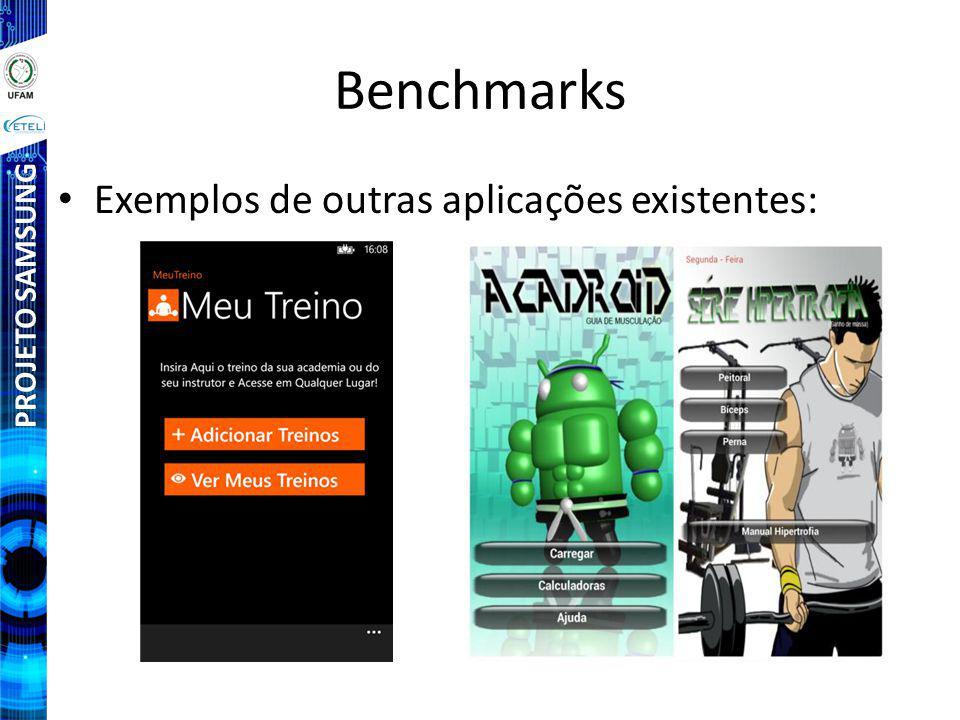 Benchmarks Exemplos de outras aplicações existentes: PROJETO SAMSUNG