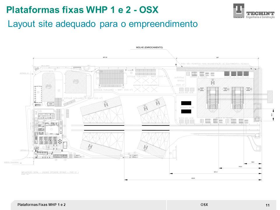 Plataformas fixas WHP 1 e 2 - OSX