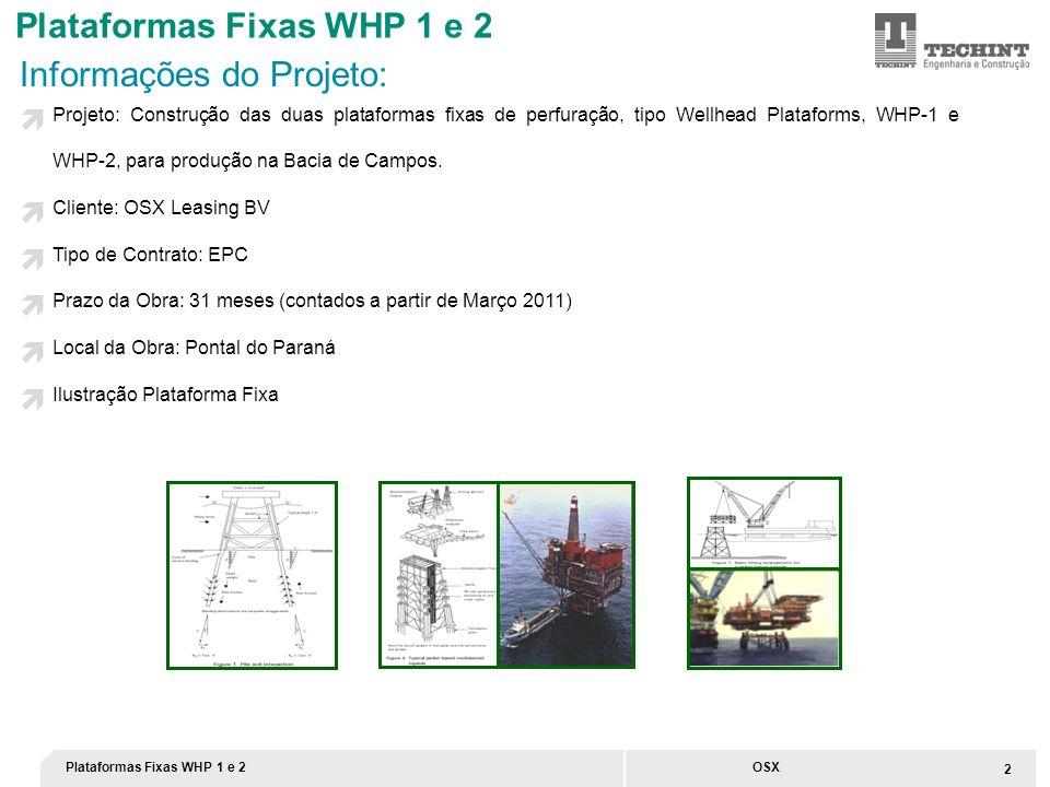 Plataformas Fixas WHP 1 e 2