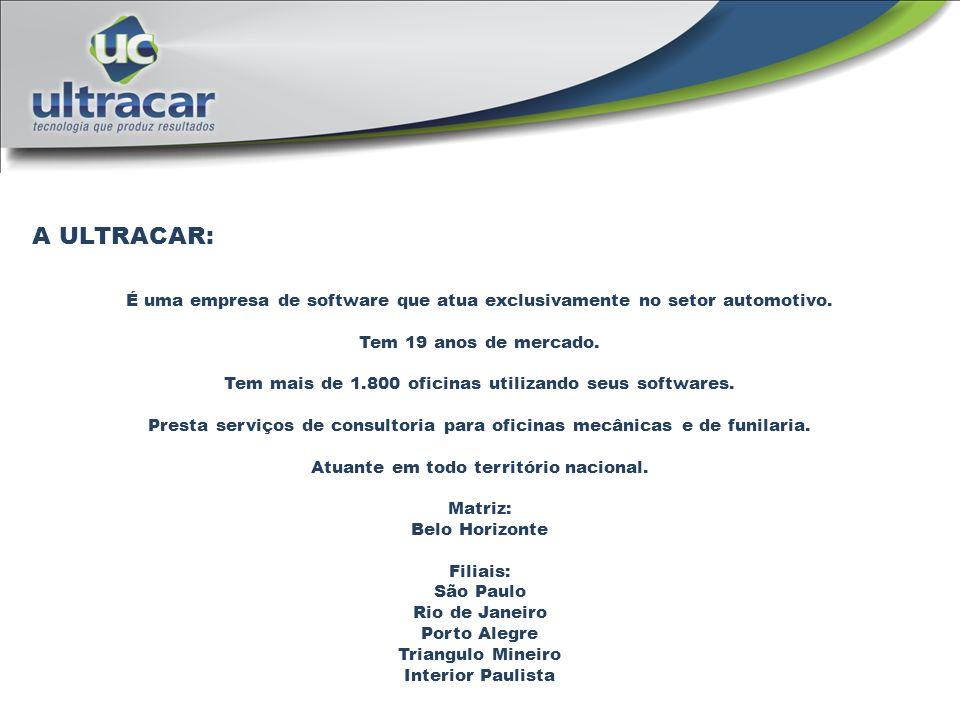 A ULTRACAR: É uma empresa de software que atua exclusivamente no setor automotivo. Tem 19 anos de mercado.
