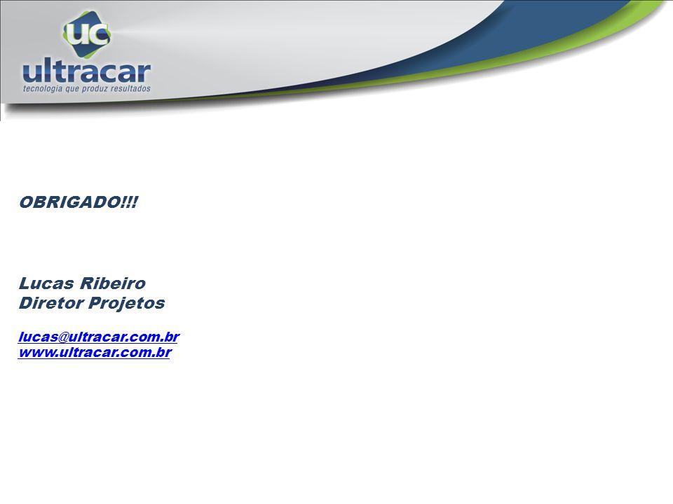 OBRIGADO!!! Lucas Ribeiro Diretor Projetos lucas@ultracar.com.br