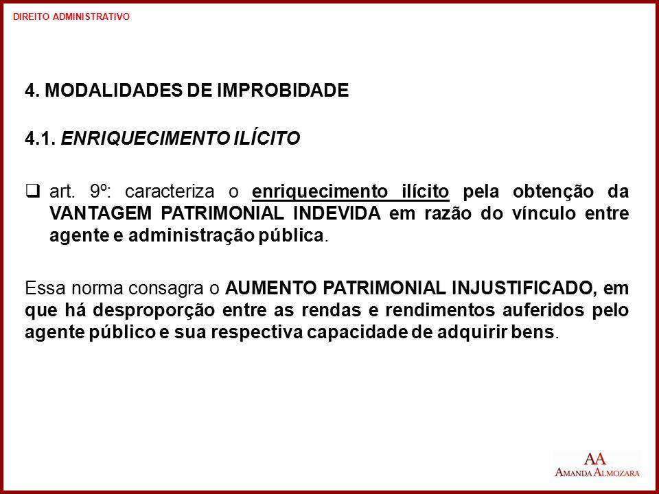 4. MODALIDADES DE IMPROBIDADE 4.1. ENRIQUECIMENTO ILÍCITO