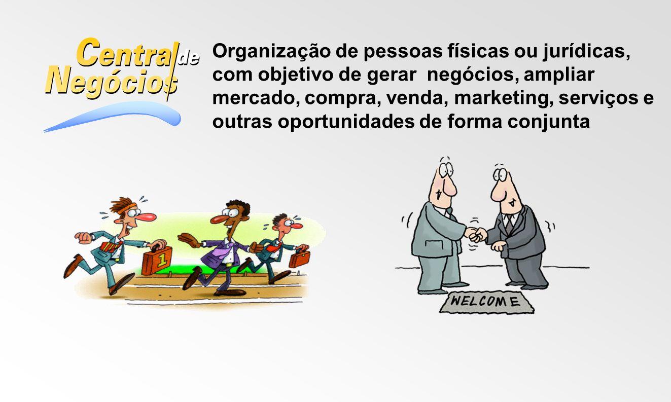 Organização de pessoas físicas ou jurídicas, com objetivo de gerar negócios, ampliar mercado, compra, venda, marketing, serviços e outras oportunidades de forma conjunta