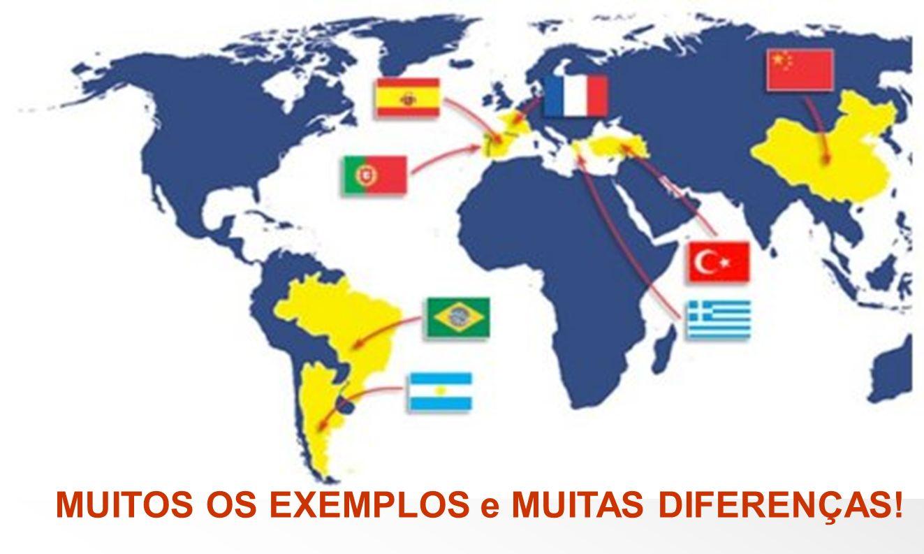 MUITOS OS EXEMPLOS e MUITAS DIFERENÇAS!