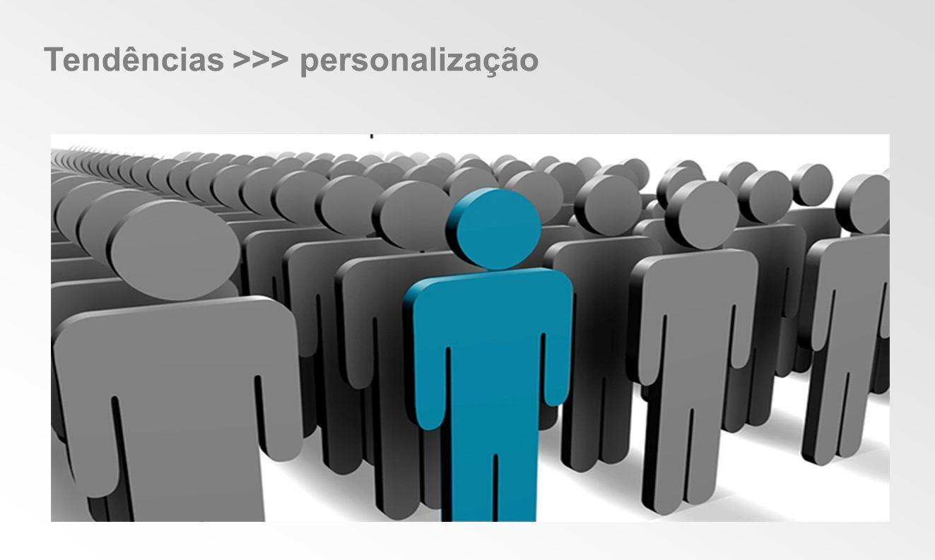 Tendências >>> personalização
