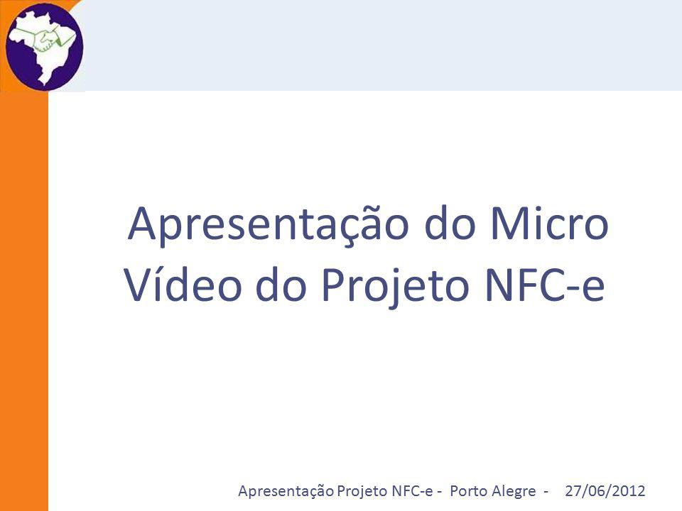 Apresentação do Micro Vídeo do Projeto NFC-e