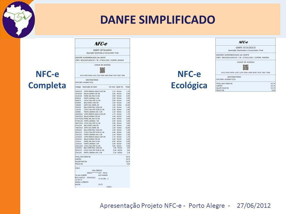 DANFE SIMPLIFICADO NFC-e Completa NFC-e Ecológica
