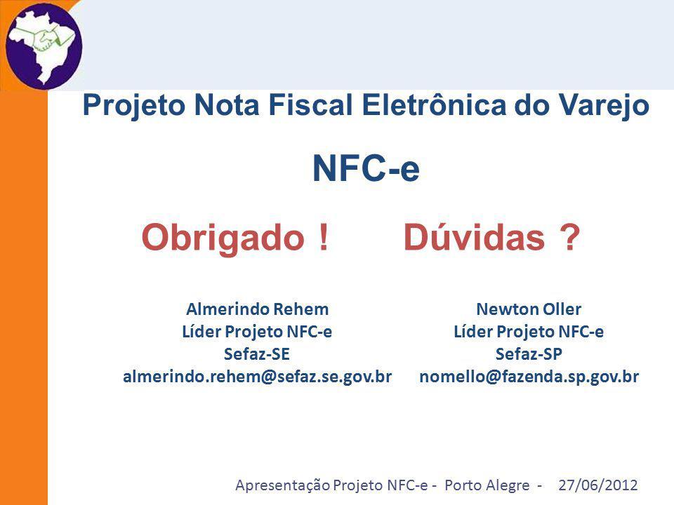 NFC-e Obrigado ! Dúvidas