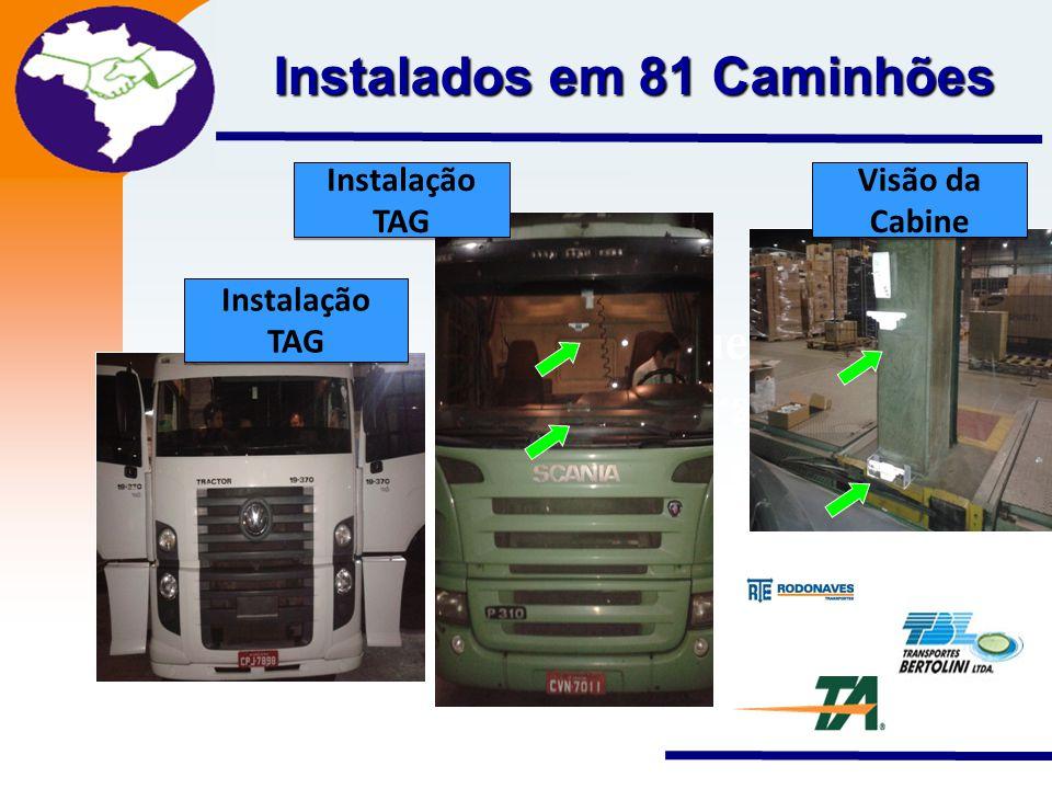 Instalados em 81 Caminhões