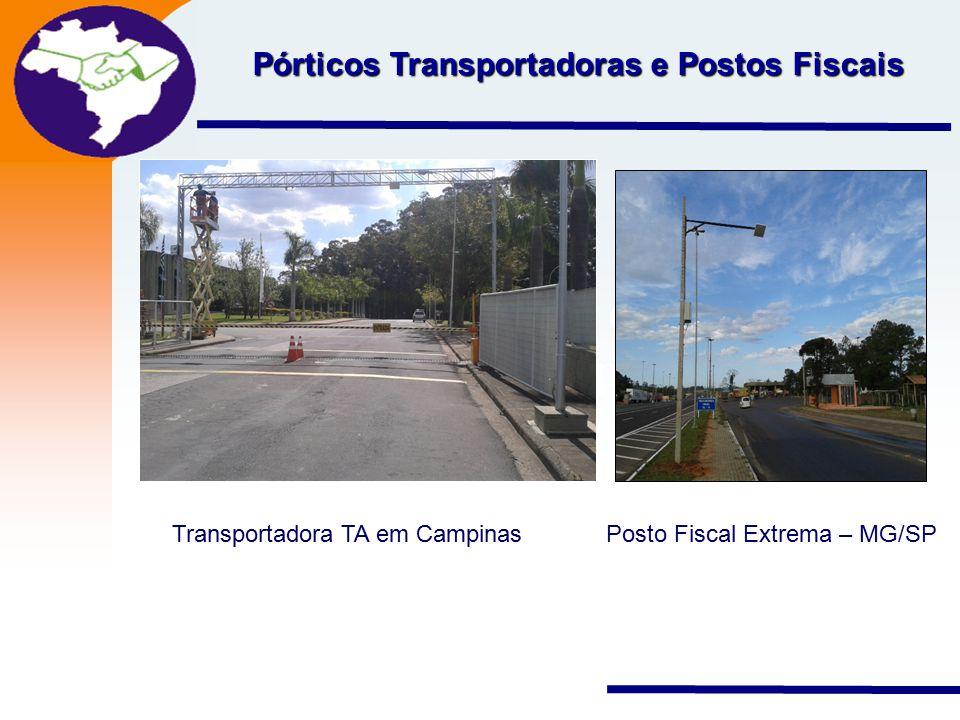 Pórticos Transportadoras e Postos Fiscais
