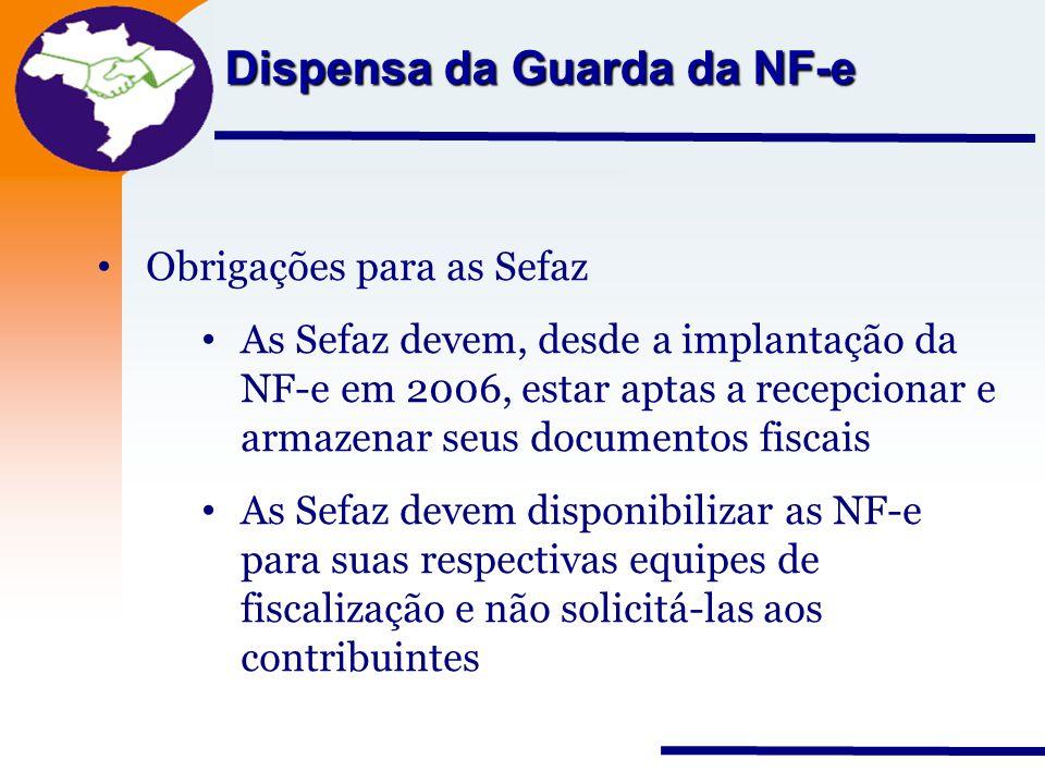 Dispensa da Guarda da NF-e