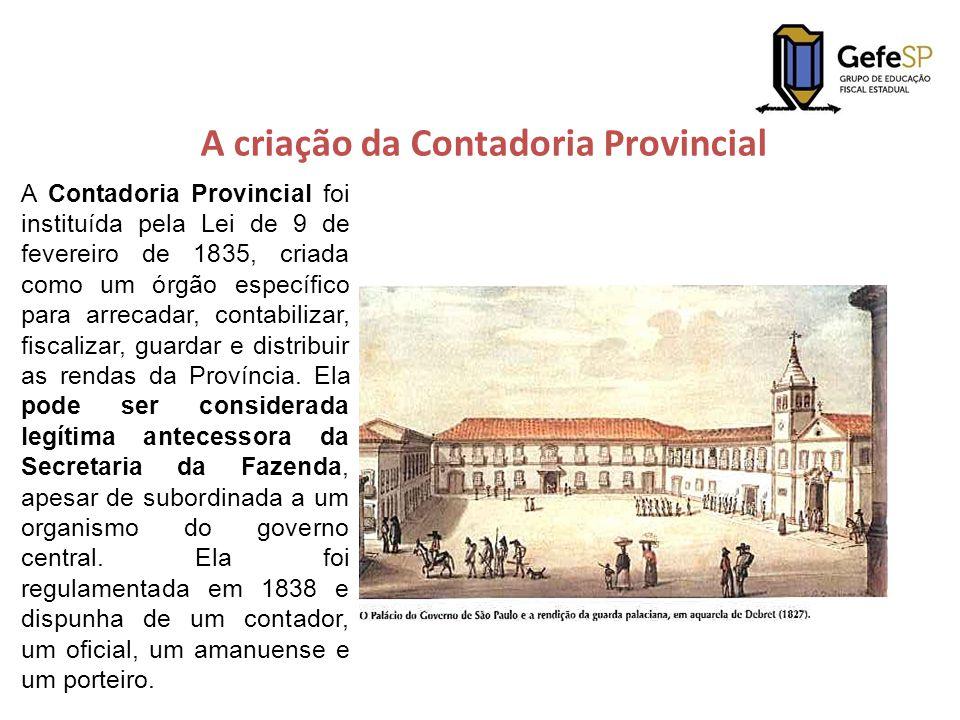 A criação da Contadoria Provincial