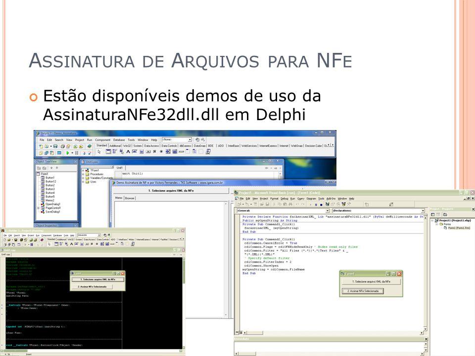 Assinatura de Arquivos para NFe