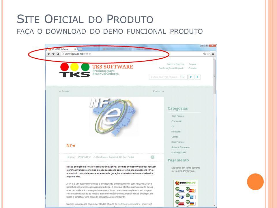 Site Oficial do Produto faça o download do demo funcional produto