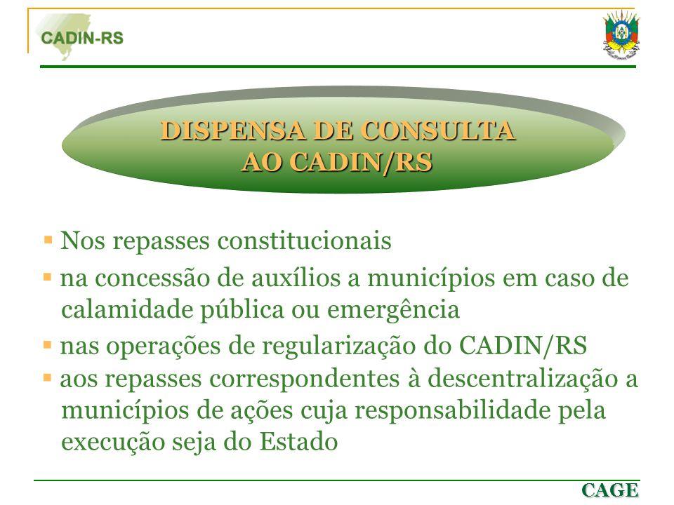 DISPENSA DE CONSULTA AO CADIN/RS