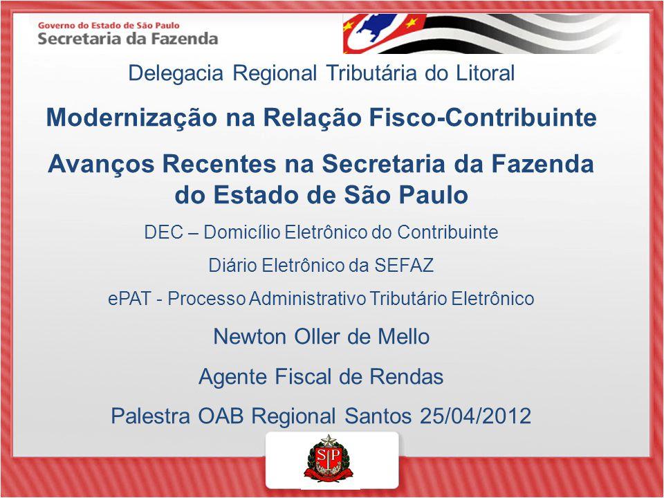 Modernização na Relação Fisco-Contribuinte