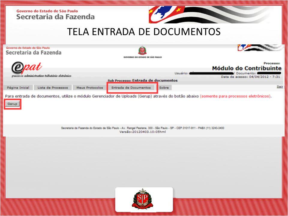 TELA ENTRADA DE DOCUMENTOS