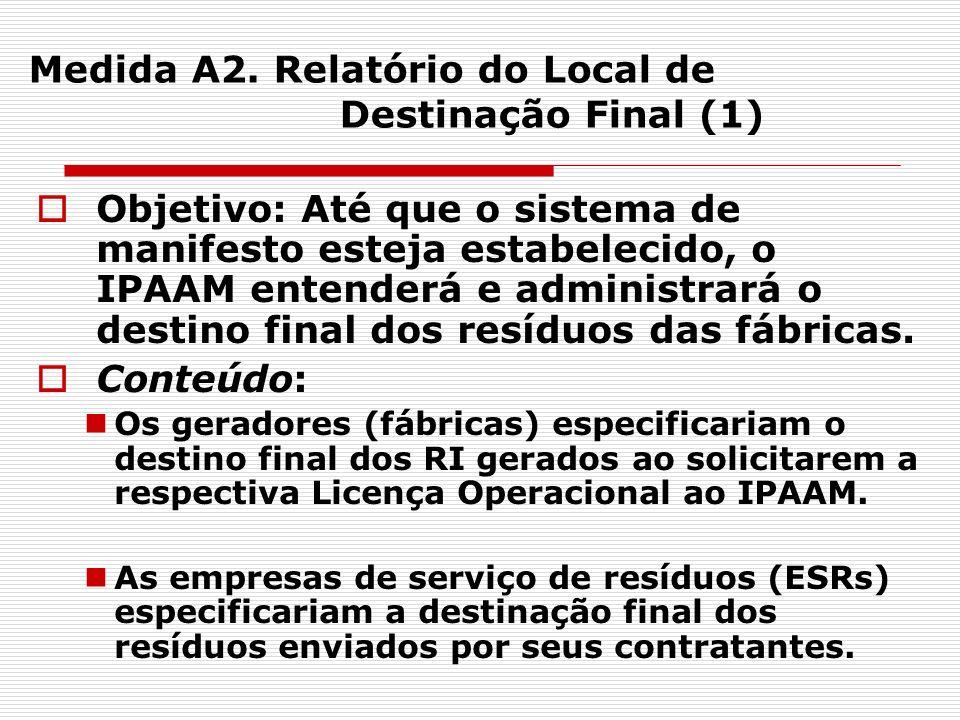 Medida A2. Relatório do Local de Destinação Final (1)