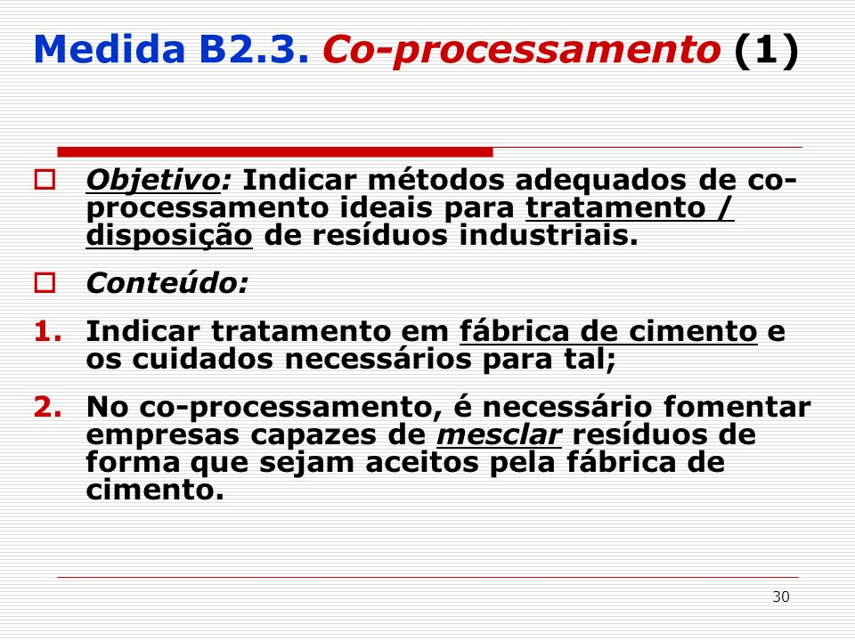 Medida B2.3. Co-processamento (1)