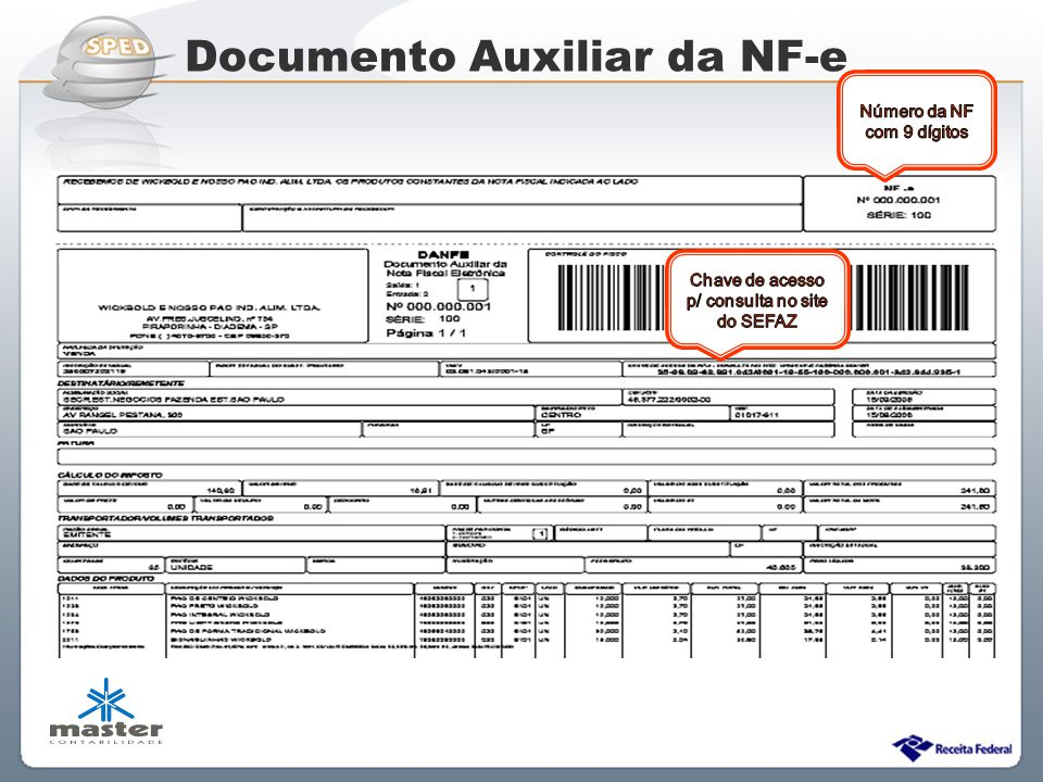 Documento Auxiliar da NF-e