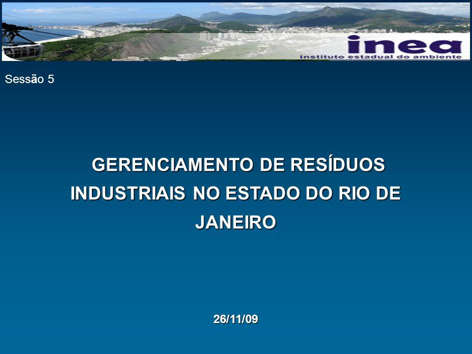 GERENCIAMENTO DE RESÍDUOS INDUSTRIAIS NO ESTADO DO RIO DE JANEIRO