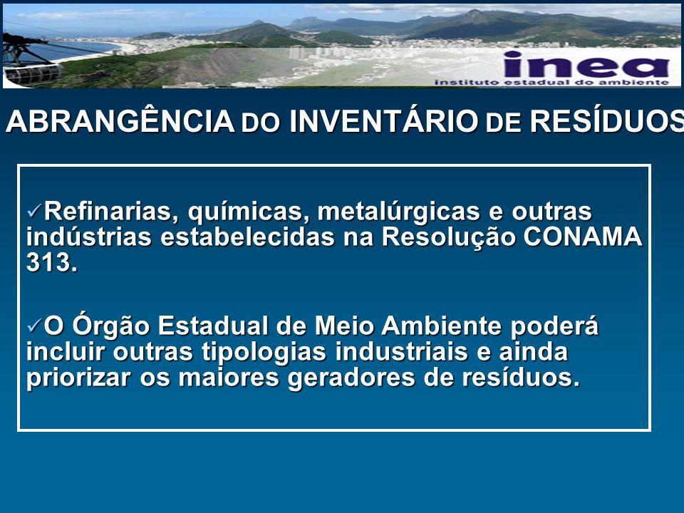 ABRANGÊNCIA DO INVENTÁRIO DE RESÍDUOS