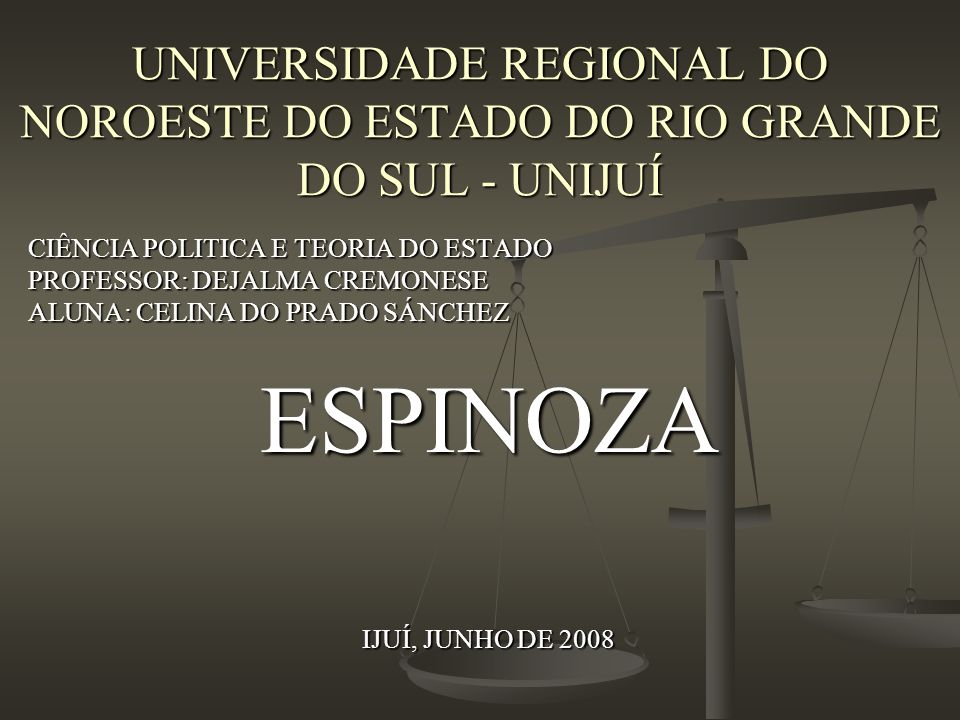 UNIVERSIDADE REGIONAL DO NOROESTE DO ESTADO DO RIO GRANDE DO SUL - UNIJUÍ