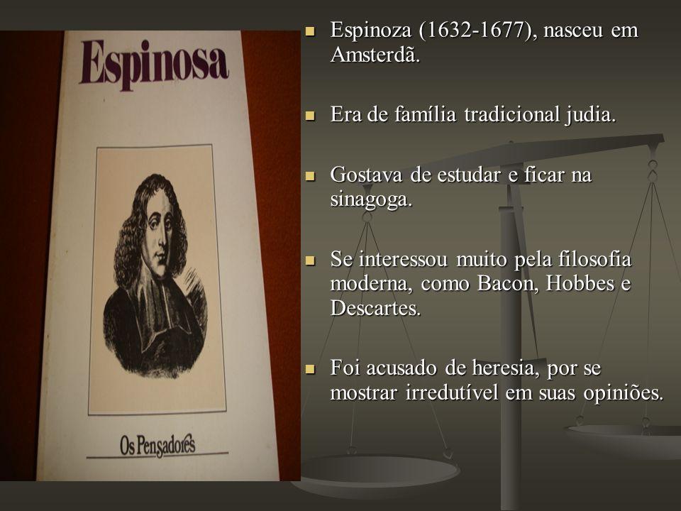 Espinoza (1632-1677), nasceu em Amsterdã.