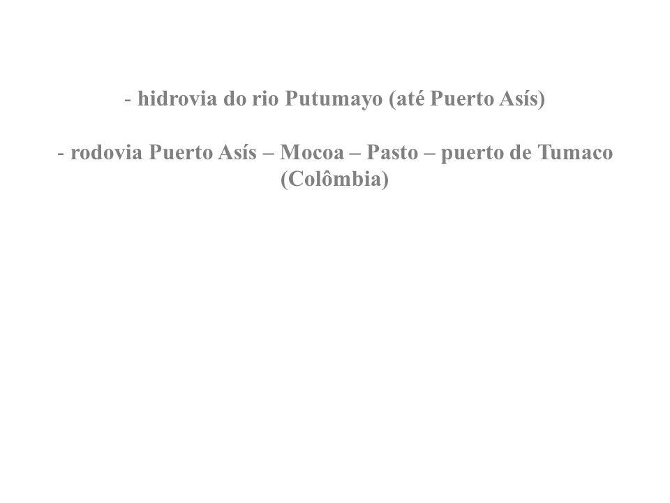 rodovia Puerto Asís – Mocoa – Pasto – puerto de Tumaco (Colômbia)