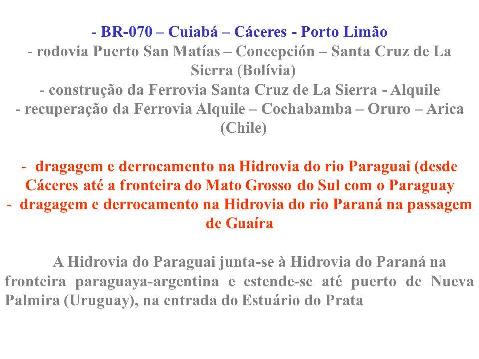 BR-070 – Cuiabá – Cáceres - Porto Limão