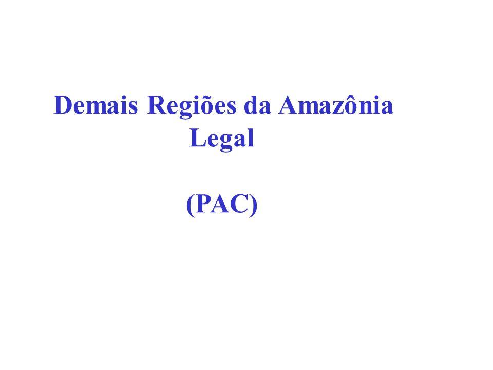 Demais Regiões da Amazônia Legal
