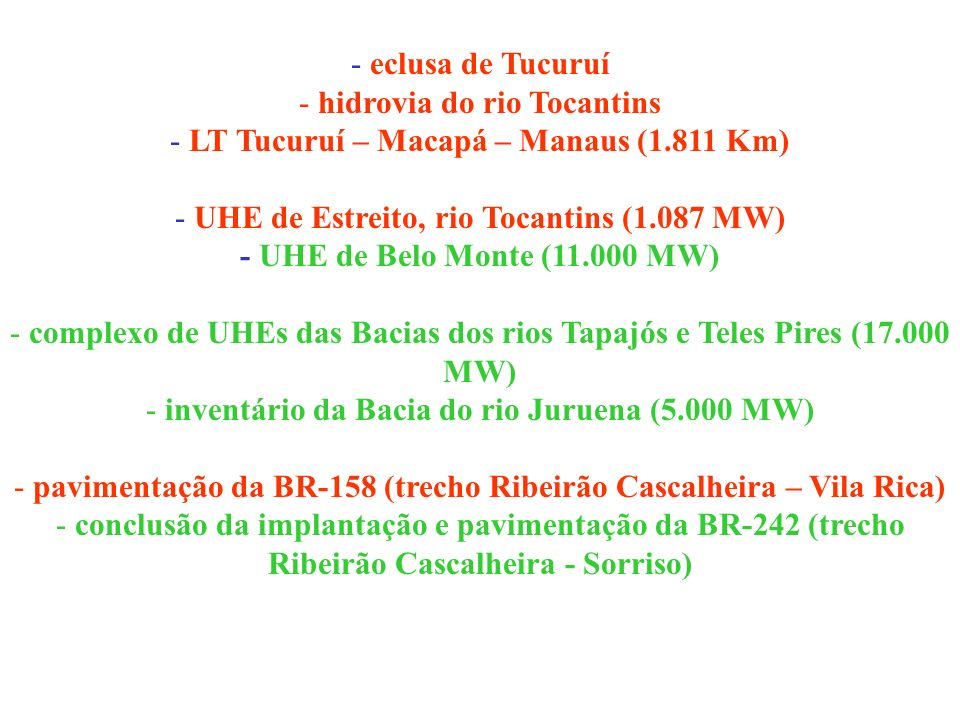 hidrovia do rio Tocantins LT Tucuruí – Macapá – Manaus (1.811 Km)
