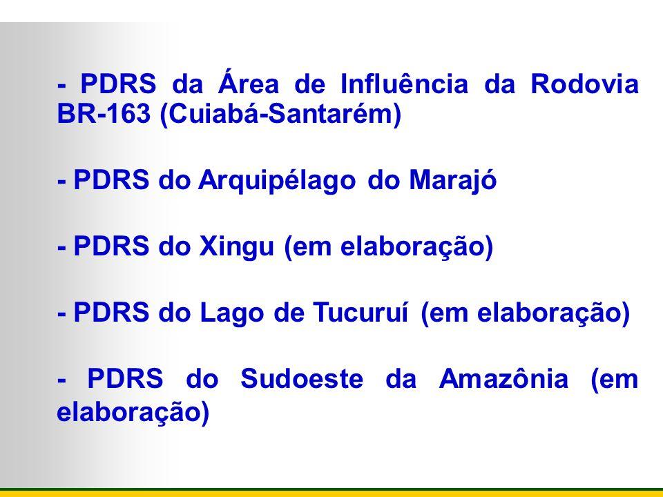 - PDRS da Área de Influência da Rodovia BR-163 (Cuiabá-Santarém)
